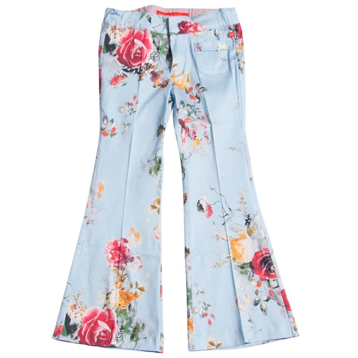 flare trousers, bengh per principesse, flower power