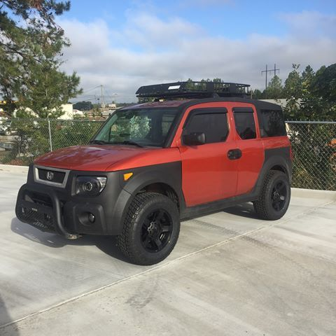 Honda Ridgeline Off Road >> Image result for lifted honda element | URBAN BUGOUT | Honda element camper, Honda element ...
