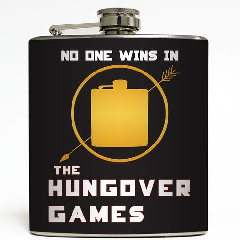 The Hungover Games - Liquid Courage Flasks - 6 oz. Stainless Steel Flask
