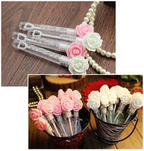 10 unids precioso color rosa romántica boda burbujas botella nupcial fuentes del partido decoraciones de la boda blanca(China (Mainland))