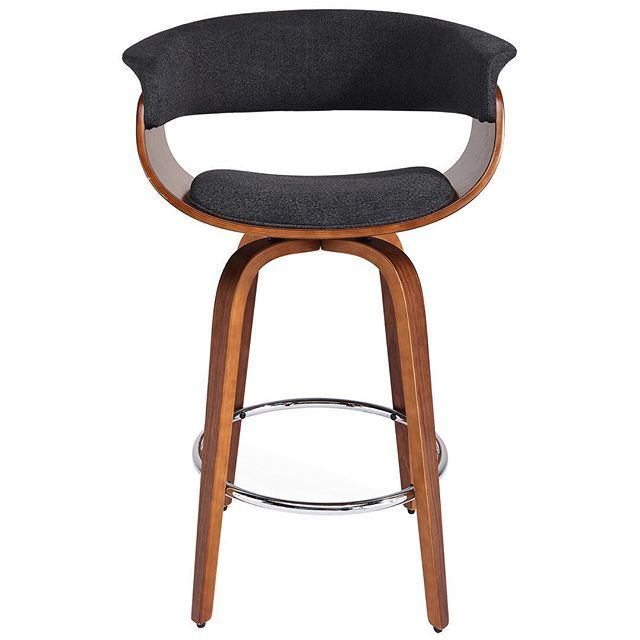 The Holt by !nspire, one of our most popular modern home accents. Impactful, functional & comfortable...   https://www.houzz.com/photos/57831803/Adjustable-Height-Hyraulic-Bentwood-Fabric-Stool-Charcoal-Gray-midcentury-bar-stools-and-counter-stools