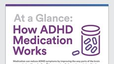 Graphic of: At a Glance: How ADHD Medication Works
