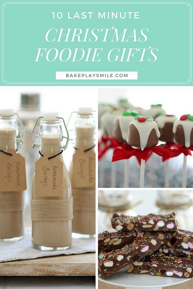 Last Minute Christmas Foodie Gifts  10 of the best, yummiest and easiest last minute Christmas foodie gifts! With everything from rocky road to homemade Baileys, chocolate balls and more!  #christmas #food #gifts #homemade #easy