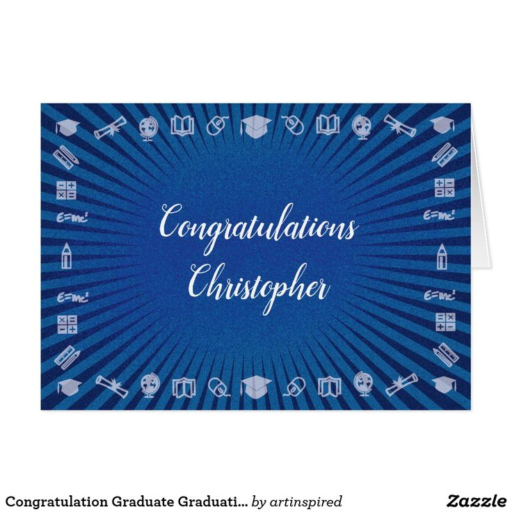 Congratulation Graduate Graduation Monogram Card . Create your own custom card for your favorite grad. #congratulations #graduation