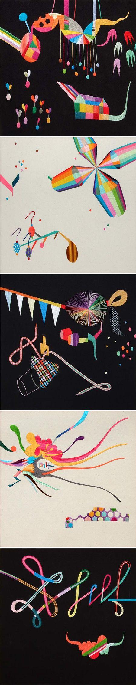 Takashi Iwasaki. Amazing embroidery //