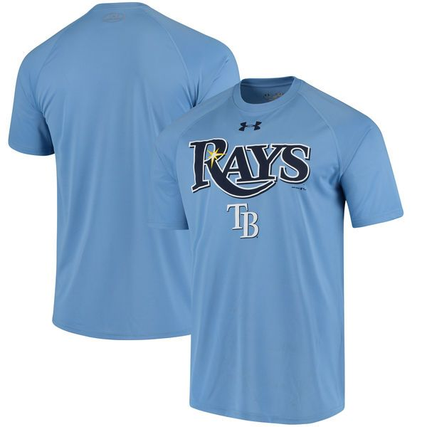 Tampa Bay Rays Under Armour Adds Performance T-Shirt - Light Blue - $29.99