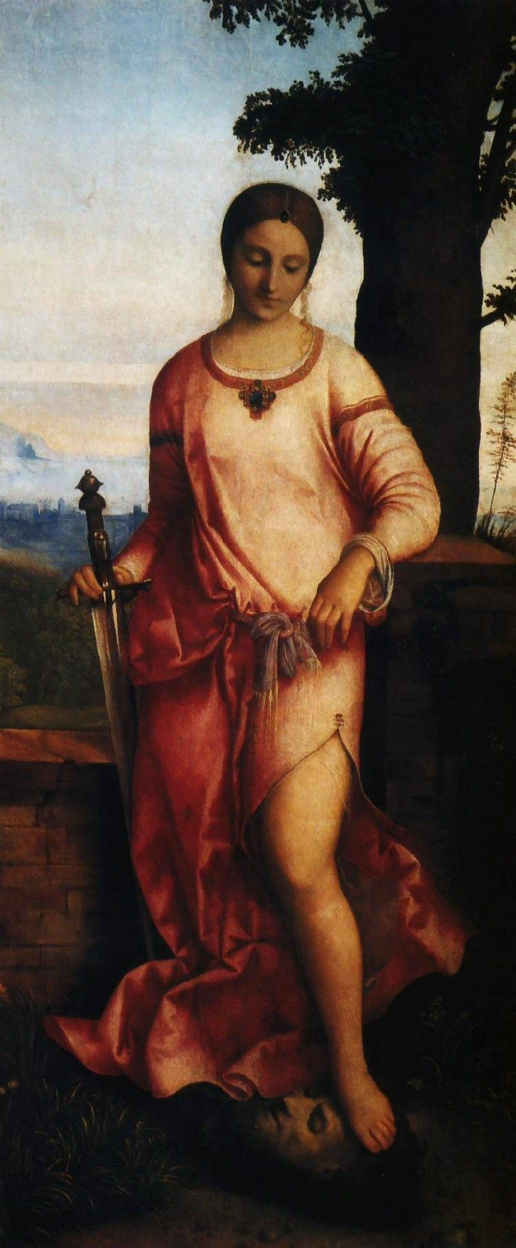 Giorgione, Judith. 1504. Oil on canvas trasferred from panel. 144 x 68 cm. Hermitage Museum, Saint Petersburg, Russia.