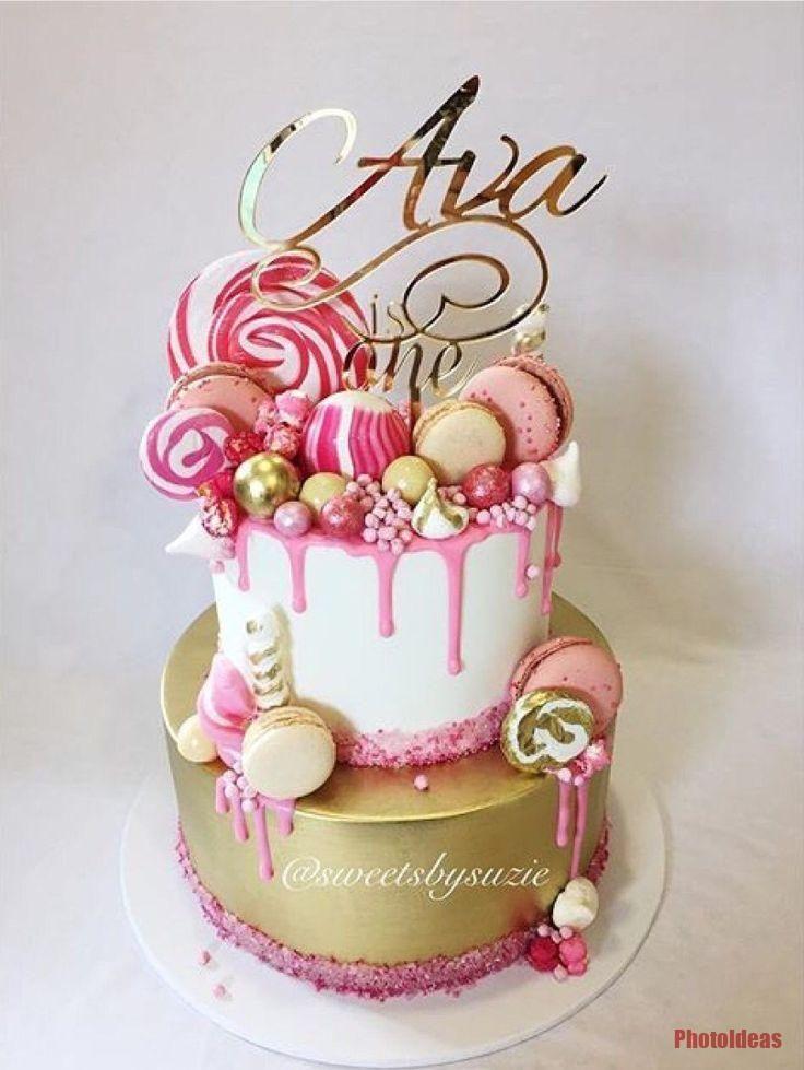 Candy Drip Cake Geburtstagstorte Mit Himbeer Curd