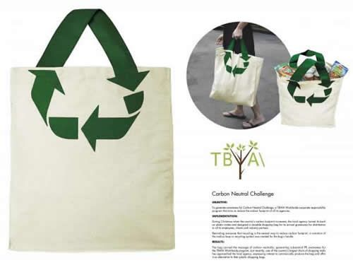 What if we could find a new use for the idea of how we use shopping bags? Organic could sell recyclable bags? Or an Organic bag could be a symbol for ethical shopping.
