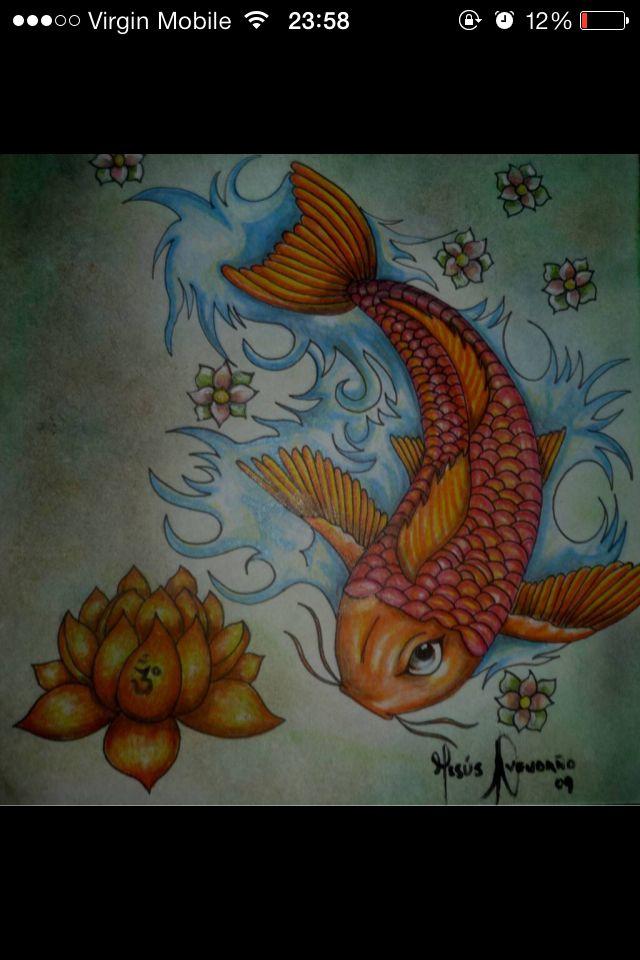 Pez koi tatoo pinterest for Pez koi pequeno