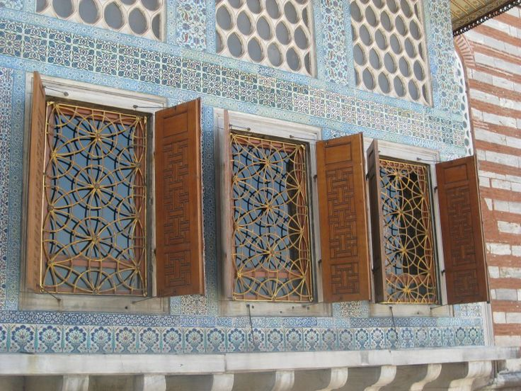 Windows at Topkapi palace