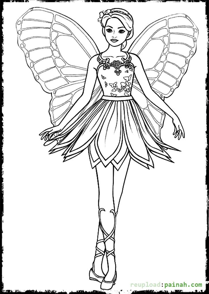 Fairy Barbie Coloring Pages Wing Butterfly Fairy Coloring Pages Ballerina Coloring Pages Barbie Coloring Pages