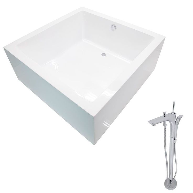 Anzzi Apollo 4.6 ft. Classic Freestanding Flatbottom Non-Whirlpool Bathtub in and Kase Faucet in Chrome