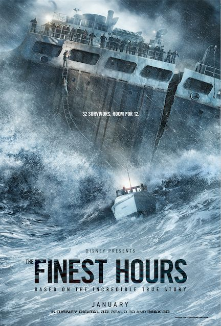 "Walt Disney Studios Releases Trailer for Heroic Thriller ""The Finest Hours"""