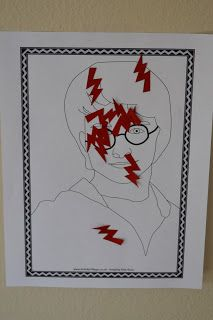 If your ever watching the Harry Potter movie and want to play a game do pin the scar on Harry!