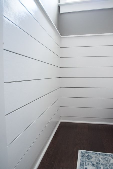 DIY Modern Shiplap Wall Treatment