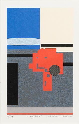 Lauri Laine: Näyttämö, 2003, serigrafia, 21x13 cm, edition 48/75 - Bukowskis Market 5/2016