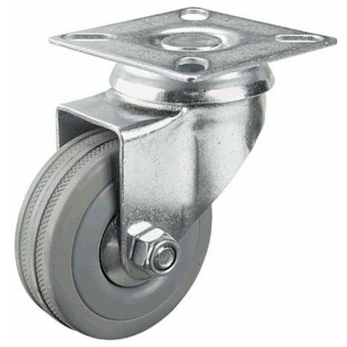 3in Swivel Plain Bearing Non Marking Caster Up To 299 Lbs Moving Tools Casters Shop Equipment