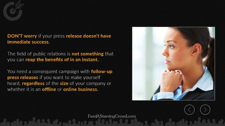 """http://FeedAStarvingCrowd.com - Confused about how to write an effective press release? This contribution from a group member on the Feed A Starving Crowd Facebook page can show you exactly how to do it right.  This is an excerpt from the new book """"Feed A Starving Crowd"""". You can get 200+ other tips in finding a hungry market completely free by visiting http://FeedAStarvingCrowd.com"""