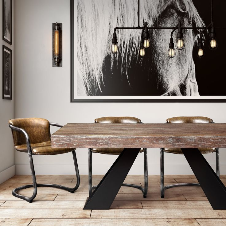 25 Best Ideas About Industrial Dining Rooms On Pinterest Industrial Dining