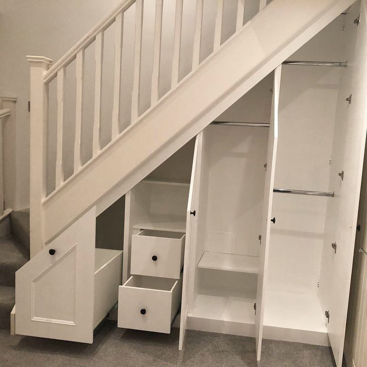 Cupboards Under Stairs Traditional Decor Cupboards Decor Stairs Traditional In 2020 Staircase Storage Under Stairs Storage Solutions Stairs Design