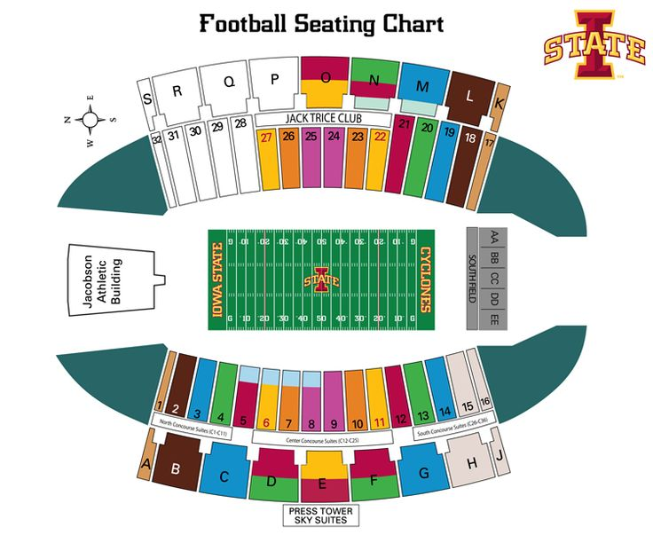Jack trice seating map actually a great thing to carry around to
