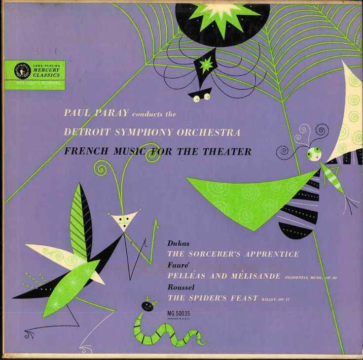 Paul Paray, Detroit Symphony Orchestra- French Music for the Theater, label Mercury MG 50035 (1954) Design: George Maas.
