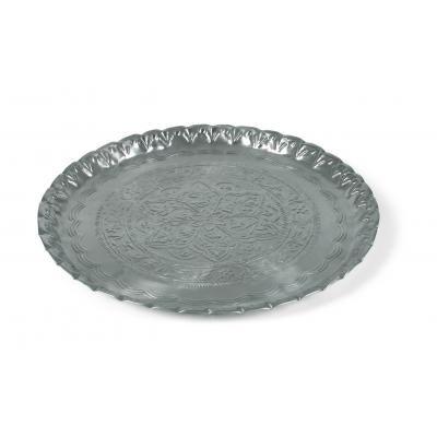 Dienblad decor zilver ?53 cm