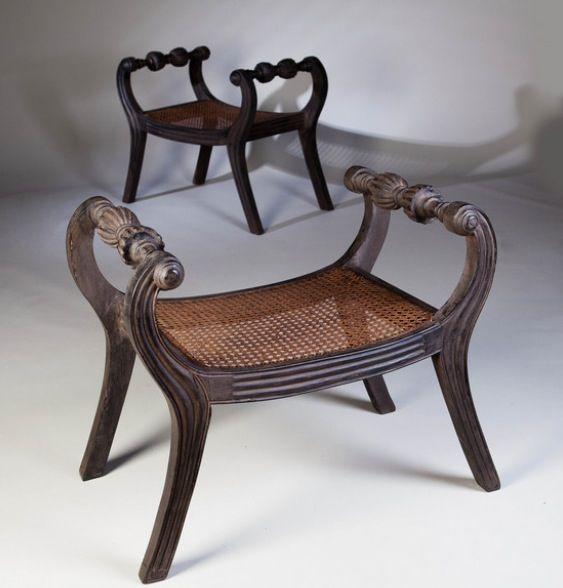 A pair of ebonised window seats Tarquin Bilgen <3