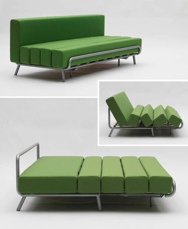 Sofa transforms into guest bed (extendable) | http://www.godownsize.com/sofa-transforms-into-guest-bed-extendable/
