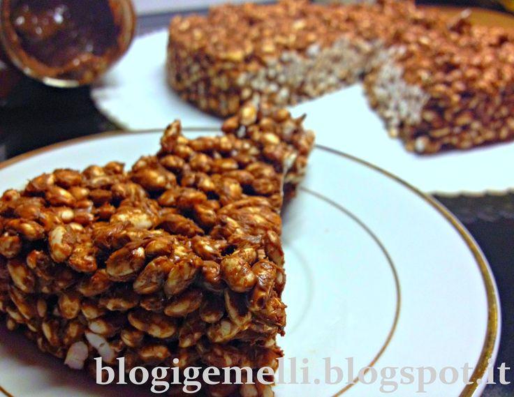 Torta di riso soffiato http://blogigemelli.blogspot.it/2015/01/torta-di-riso-soffiato.html