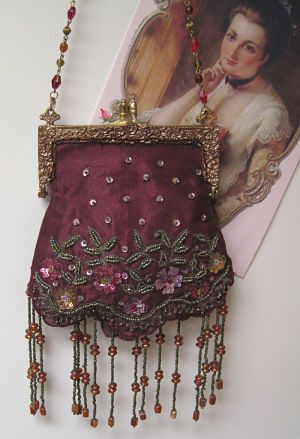 victorian purses | ... Purse-Victorian Burgundy Purse, Burgundy Purse,Victorian Purse