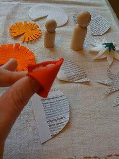 How to make peg people stuff - These would make awesome fairies and gnomes.