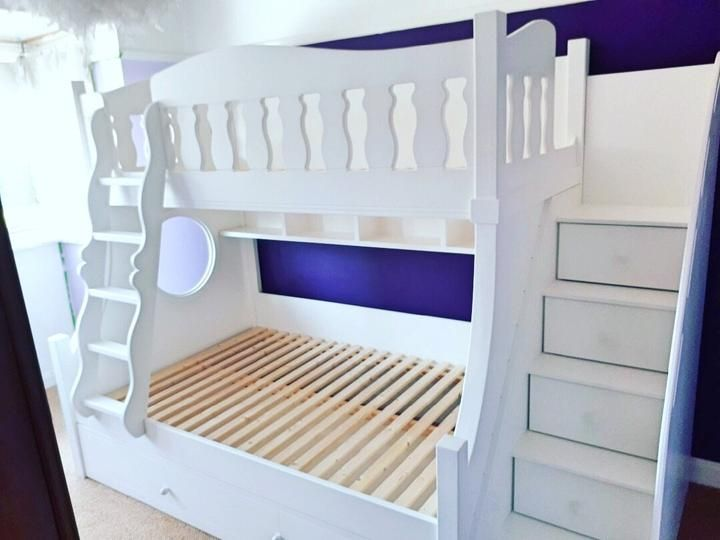 Deluxe Bunk Beds With Drawer Stairs With Images Bunk Beds With Drawers Arranging Bedroom Furniture Bunk Beds