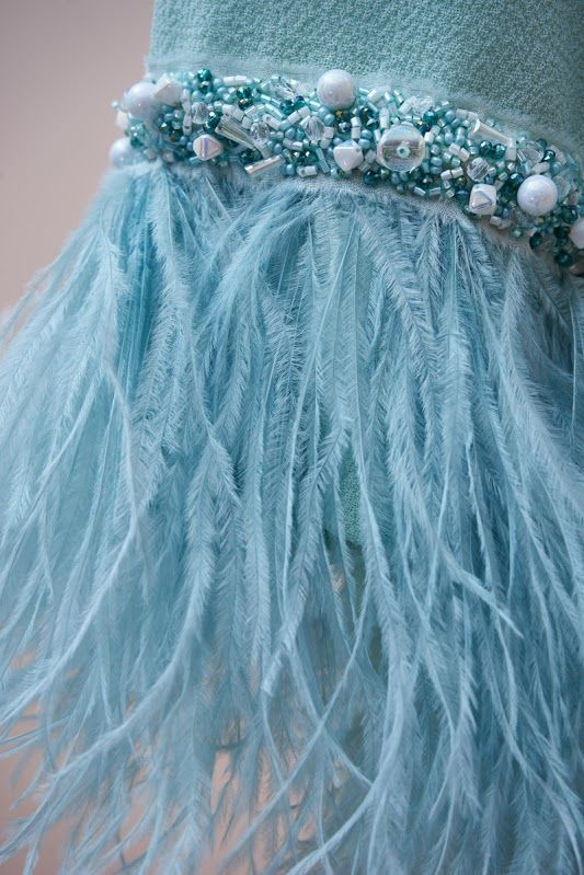 #handmade #embroidery. #couture #hautecouture #kids #dress #luxury #exclusive #limited #highfashion #fashion #Bibiona #mint #ostrichfeathers
