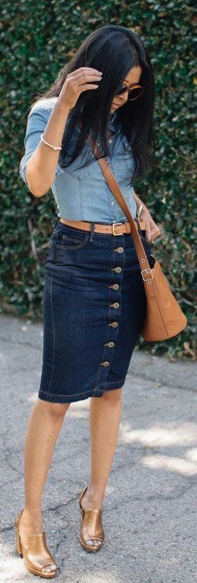 Falda de Botones