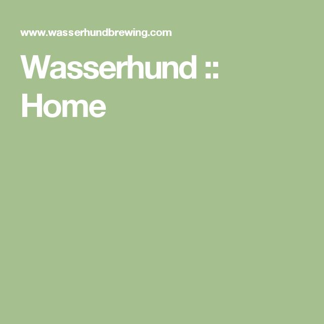 Wasserhund :: Home