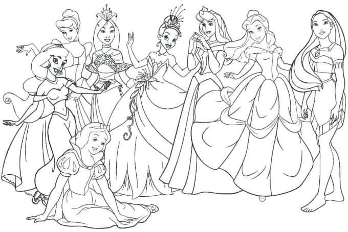 18+ Cute disney princess coloring pages inspirations