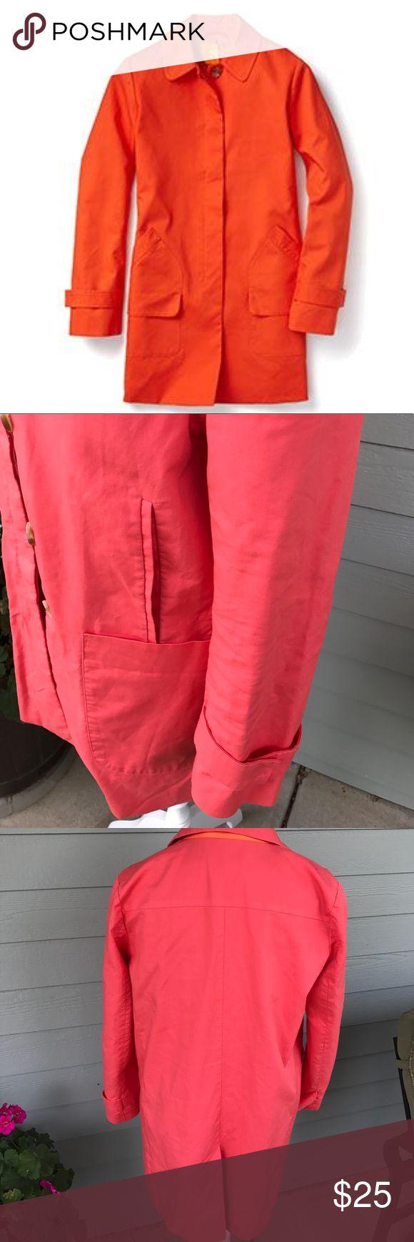 Joe Fresh melon trench size M Joe Fresh melon colored trench. Fully lined. 100% cotton. Size M Joe Fresh Jackets & Coats Trench Coats