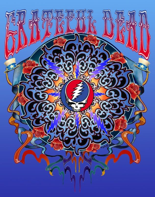 grateful dead poster images | Grateful Dead New Years Rose LIMITED RUN 50 Poster Archival Giclee ...