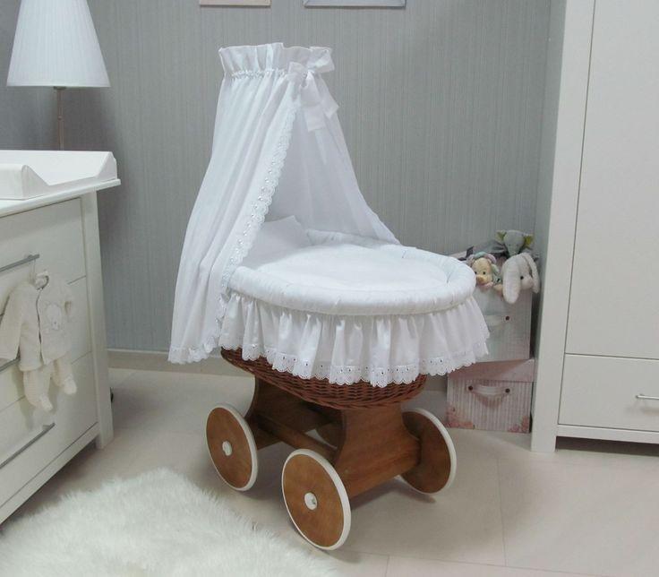 Babymajawelt®  Mit Charme und Spitze - romantische Stubewagen in natur, grau oder weißen Farben