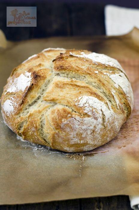 Pan casero sin amasado, recetas de pan, receta fácil