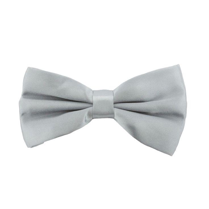 Kinder Fliege Schleife verstellbar Hochzeit Anzug Smoking - grau in Bekleidung Accessoire  • Fliegen • Kinder