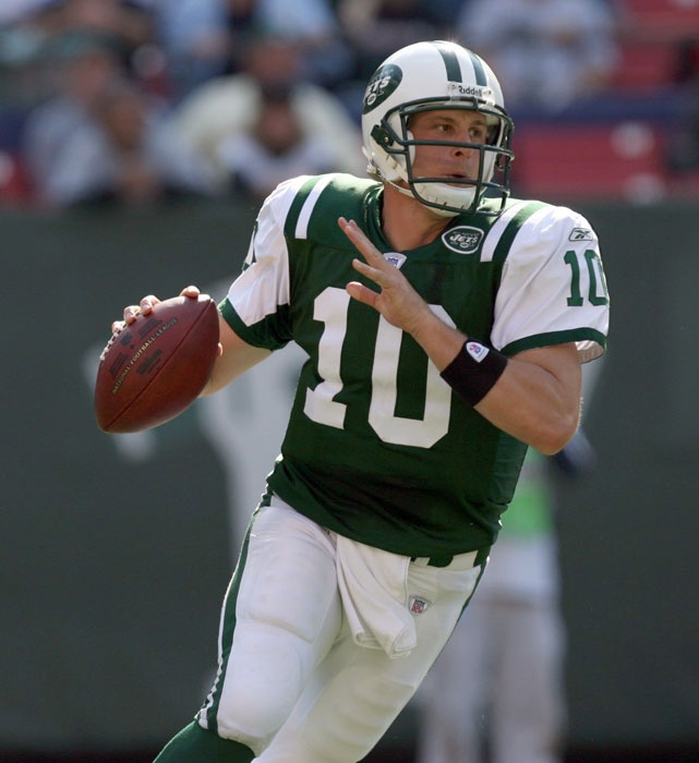 My We Are Marshall man Chad Pennington looking downfield, Jets, Jets, Jets ...