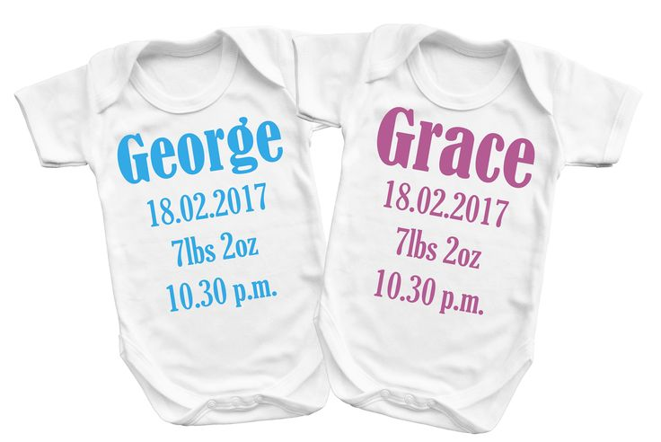 Baby's memory baby grow with Name, date, weight and hour baby was born. Ideal present to add in memory frame or box. by MumKnowsBabyGrows on Etsy