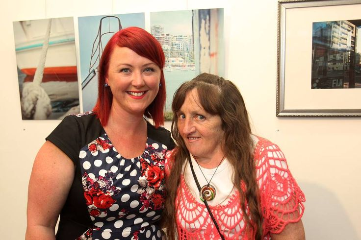 Angela Galway and Cathy Perkiss at the TAFE Illawarra photography exhibition launch.