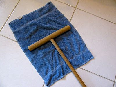 "Cuban mop - ""I don't buy disposables. I have a basket full of  old kitchen and hand towels for cleaning. Just drop the cloth on the floor and flip it over the bar mop and I'm set to clean. Wash, rinse, repeat,  then toss in the washer. The best mop!  Good for outside window washing too."""