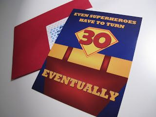 Even Superheroes Turn 30 Eventually Superman Themed 30th Birthday Invitations