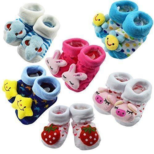 Oferta: 19.99€. Comprar Ofertas de Happy Cherry - (6 pares) Zapatos Calcetines Zapatillas de Animales para Bebés niños primeros años Aprender caminar barato. ¡Mira las ofertas!