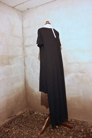 """Unisex Double Tube Dress, Black. From """"OKKULT"""", the 2013 collection."""